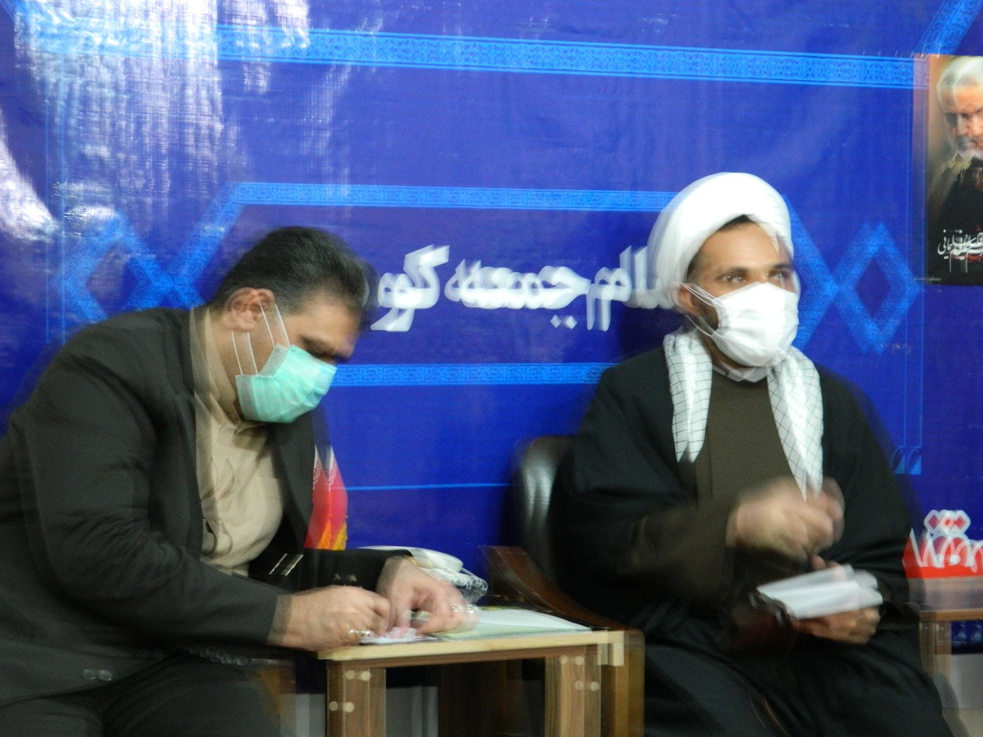 دیدار مدیر کل کمیته امداد استان با امام جمعه کوهنانی