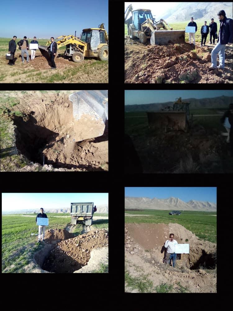 پر و مسلوب المنفعه کردن ۶ حلقه چاه دهانه گشاد در شهرستان کوهدشت: