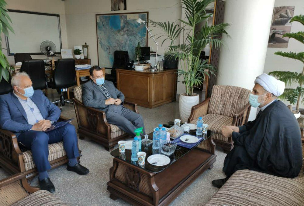 دیدار حجتالاسلام محمدرضا مبلغی با مدیرعامل شرکت توسعه منابع آب و نیروی ایران: