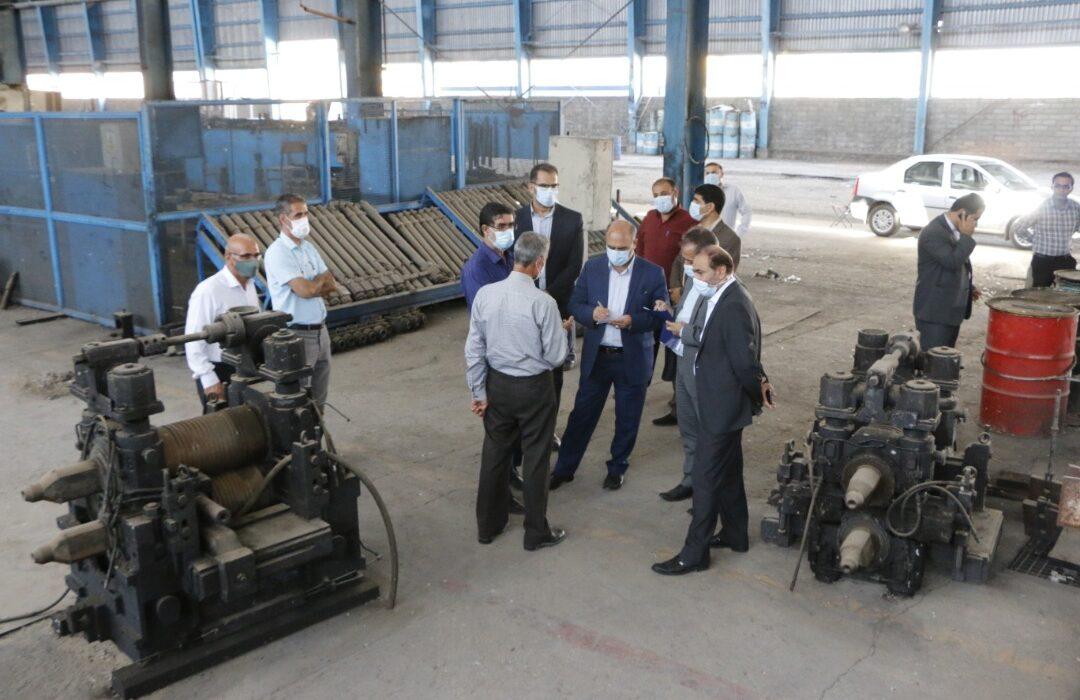 به مناسبت هفته قوه قضاییه رئیس کل دادگستری استان لرستان از کارخانه صدر فولادبازدیدکرد