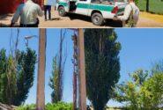 قطع برق یک حلقه چاه دارای تخلف در شهرستان کوهدشت