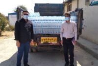 اهدا ۶ هزار بطری آب معدنی  به بیمارستان امام خمینی (ره) شهرستان کوهدشت